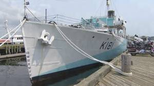 """HMCS Sackville sailpast and """"Just For the Hull Of It"""" campaign"""