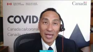 Over 57% of eligible Canadians fully vaccinated for COVID-19, officials say (02:55)