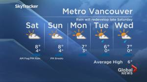 B.C. evening weather forecast: Jan. 15 (01:53)