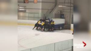 Canadian hockey teens skate to the rescue after Zamboni breaks down