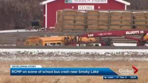 School bus crash near Smoky Lake sends several to hospital