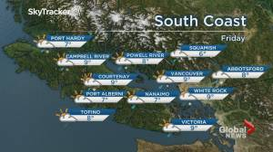 B.C. evening weather forecast: April 2
