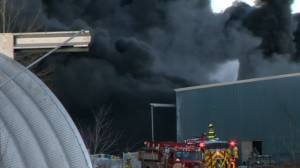 Major fire at Minto recycling plant