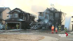 Woman apologizes after cigarette fire damages neighbouring homes in north Edmonton (01:34)