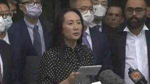 Meng Wanzhou speaks after extradition order withdrawn (02:36)