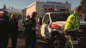 Calgary city council debates province's proposed changes to EMS dispatch services (01:59)