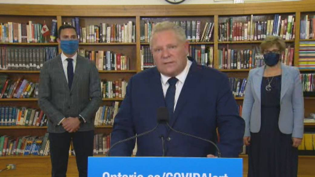 Click to play the video 'Coronavirus: Ford defends decision to allow dance studios to operate but not fitness centers'