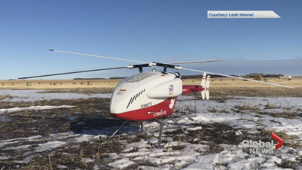 Click to play video 'Alberta researchers look at drones to fight COVID-19 in remote communities'