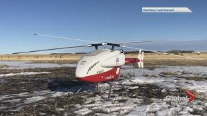 Alberta researchers look at drones to fight COVID-19 in remote communities (03:58)