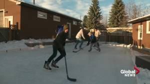Backyard rinks prove to be fun for families in Edmonton (02:25)