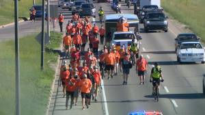 Saskatoon Tribal Council leads walk calling for action to adopt TRC calls to action (01:48)
