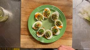 DIY: Spooky avocado-lime devilled eggs (03:09)