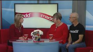 MADD Canada's red ribbon campaign with Bonny and Craig Stevenson