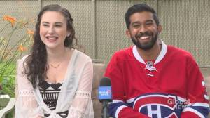 Montreal couple tie knot mixing their religious and beloved Habs rituals (02:00)