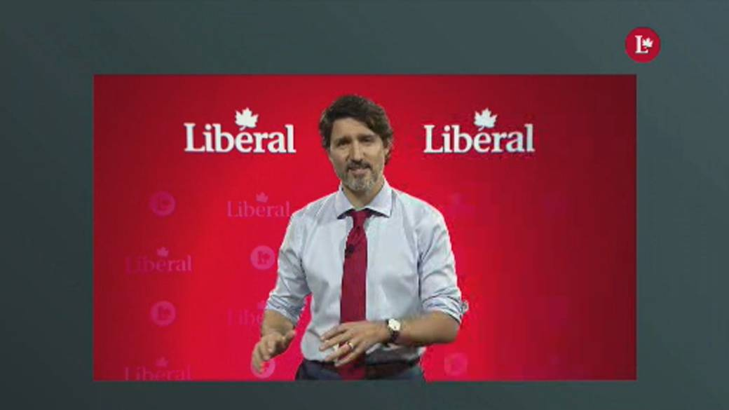 Click to play video: 'Trudeau tells national convention to put Ottawa's partisanship aside in times of pandemic'