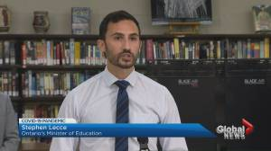 Critics slam Ontario government's back-to-school safety guidelines (03:08)