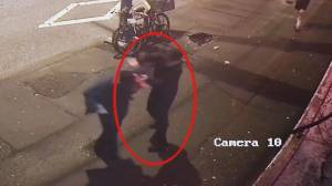 Security video released by VPD shows stabbing suspect (00:53)