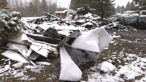 Fire in village of Elgin destroys trailer park home to six people and numerous pets (02:18)