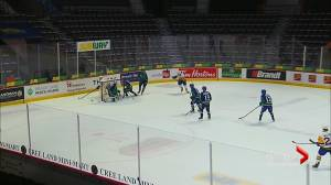 Saskatoon Blades players discuss items they would have liked in the hub (01:32)