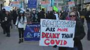 Play video: Protests defy public health measures as COVID-19 cases surge