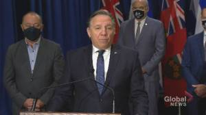 Quebec premier calls on federal government for unconditional healthcare, infrastructure funding