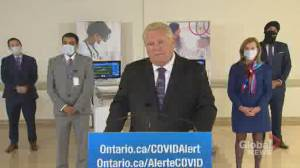 Coronavirus: Ford reiterates support for Niagara MPP Sam Oosterhoff after maskless group photo (01:37)