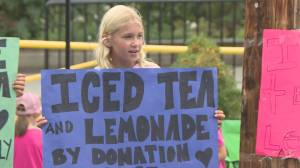 Victoria kids run lemonade stand for late friend's family