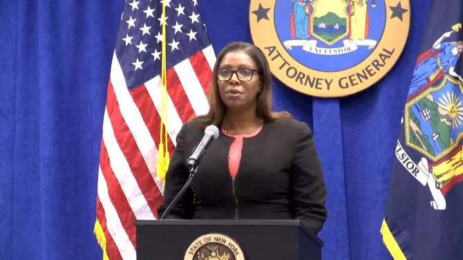 Click to play video: New York AG outlines allegations against senior NRA leadership