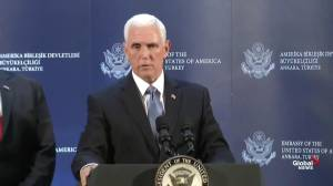 Pence says U.S. will withdraw sanctions on Turkey once permanent ceasefire has occurred