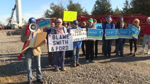 Prince Edward County residents protest wind turbine dismantling