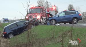 2 injured in head-on collision on Heritage Line near Keene (00:27)