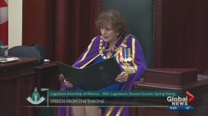 A look at the highlights from the throne speech at the Alberta legislature
