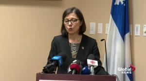 Danielle McCann speaks on first Quebec coronavirus case