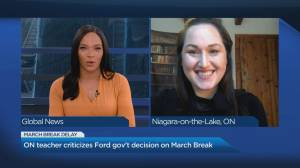 Ontario teacher criticizes Ford government for postponing March break (04:27)