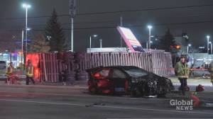Driver of stolen tractor trailer dead after causing multi-vehicle crash in Mississauga