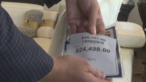 Canadian tariffs causing some furniture prices to spike. (02:15)