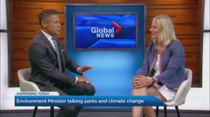 Catherine McKenna talks parks and climate change