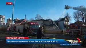 2 homes in central Edmonton damaged by fire