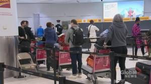 Coronavirus: Testing lineups at Pearson Airport as Canadians come home (02:50)