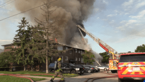 Dozens remain displaced by Oshawa apartment fire (02:26)