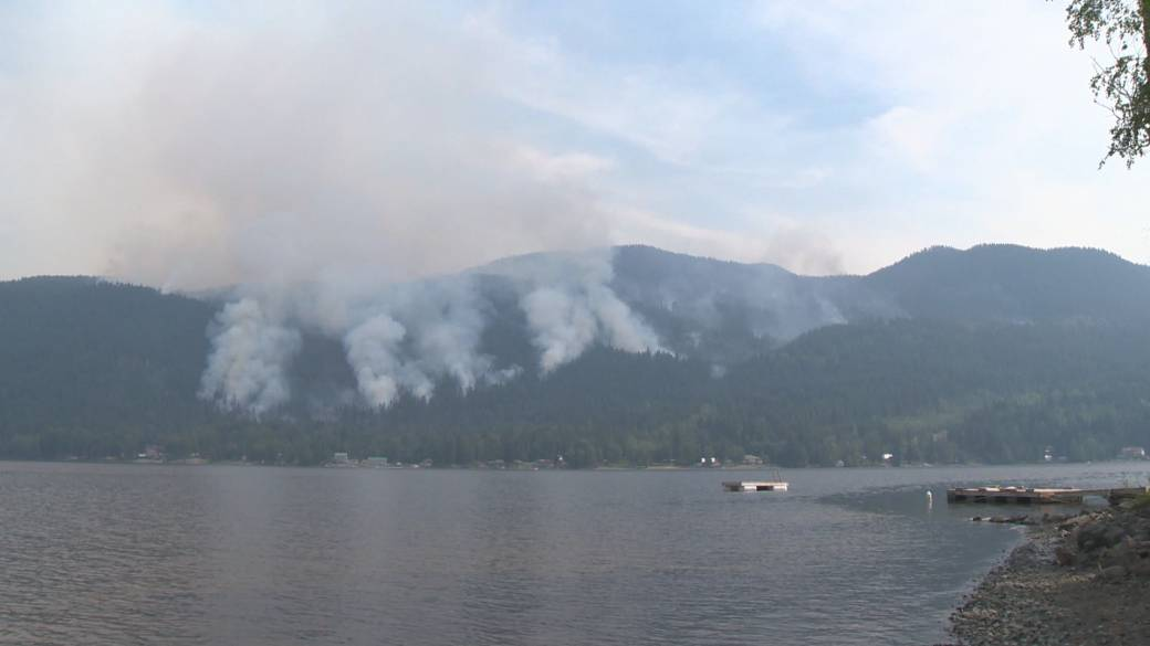 'Okanagan fires exploding successful  size  owed  to adust  conditions'