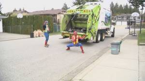 Abbotsford sanitation workers dress as superheroes