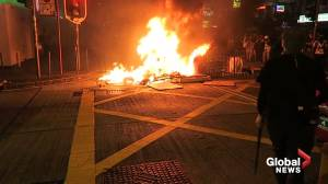 Barricade set on fire in Prince Edward district as Hong Kong protests rage on
