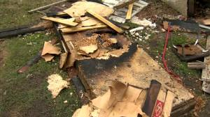 Four sent to hospital in Redwood Avenue explosion (00:28)
