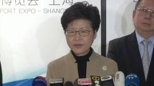 Carrie Lam says she's saddened by protesters' injuries, talks about meeting with Chinese president