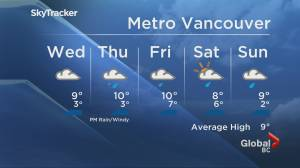 B.C. evening weather forecast: March 2 (02:00)