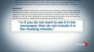 Note from SHA: 'If you don't want to see it in the newspaper' leave it out of meetings