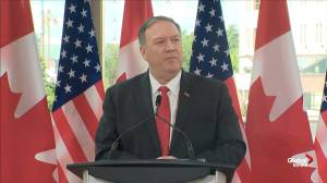 Pompeo scolds reporter for 'taking the Chinese line' on detention