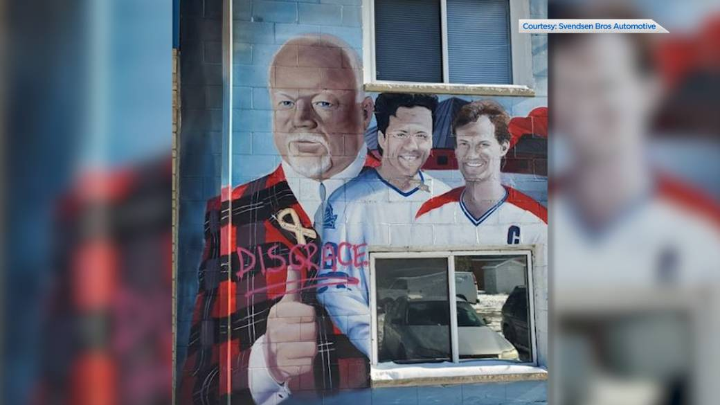 Kingston mural of Don Cherry vandalized while others still support him