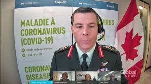 Canada's COVID-19 vaccine rollout military head steps aside amid investigation (00:32)